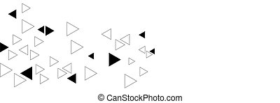 Abstract black triangular background on the white