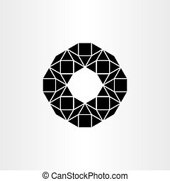 abstract black vector polygon geometric icon background