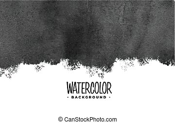 abstract black watercolor paint background