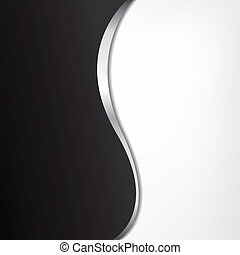 Abstract black-white background with metallic line