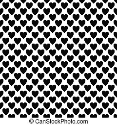 Abstract black white heart pattern design