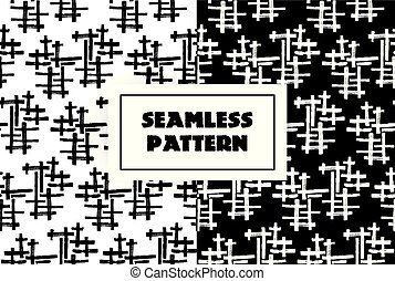 Abstract black white lines seamless pattern. Hand drawn graphic. May use it ffor mens clothing