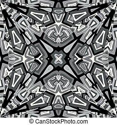 abstract, black , witte achtergrond, kaleidoscope
