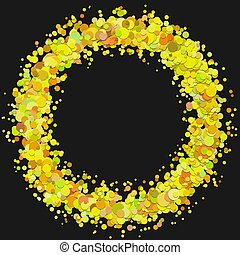Abstract blank dispersed confetti circle background template...