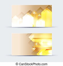 Abstract blank name card template for business artwork. eps...