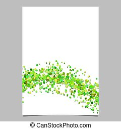 Abstract blank wavy dispersed confetti circle flyer ...
