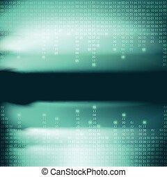 abstract, blauwe , binaire code, achtergrond