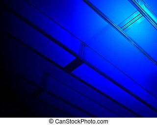 abstract, blauwe , bouwsector, industrie, details