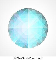 abstract, blauwe diamant