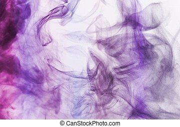 abstract, blauwe , en, paarse , rook, achtergrond