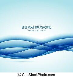 abstract, blauwe golf, ontwerp, achtergrond