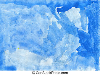 abstract, blauwe , watercolor, achtergrond