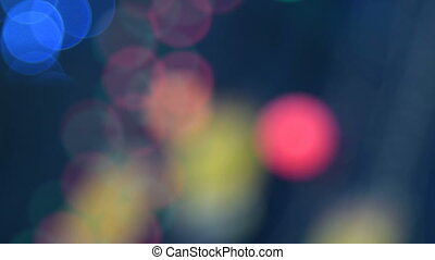 Abstract blinking lights