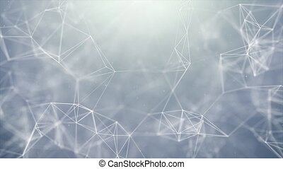 Abstract Blinking Triangles plexus Network Technology Science loop Background