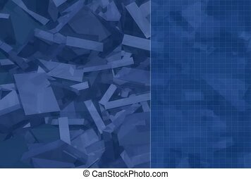 abstract, block, cluster