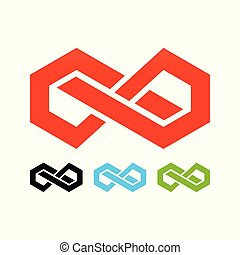 Abstract Block Infinite Logo