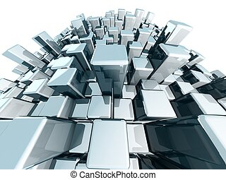 Abstract block urban city view  concept
