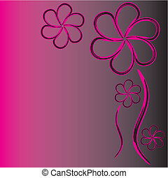 abstract, bloemen
