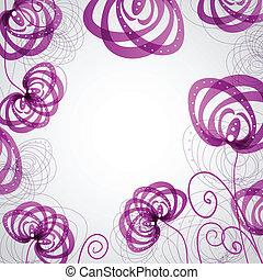 abstract, bloemen, viooltje