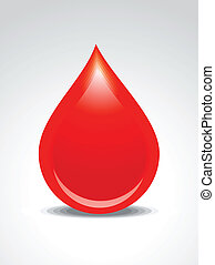 abstract blood drop vector
