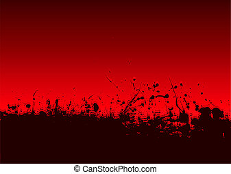 abstract blood splat