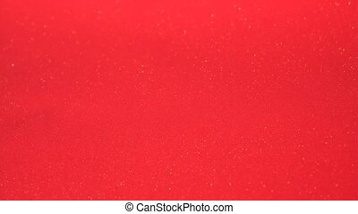 Abstract bloody-red background with chaotical motion of bubbles. Balls rotation, abstract molecular brownian motion.