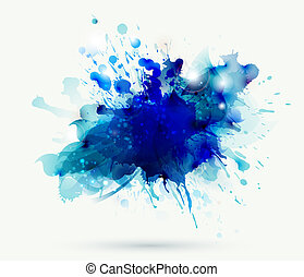 Abstract blot - Abstract artistic element forming by blots