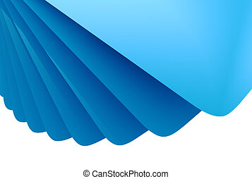 Abstract blue 3D layered background.