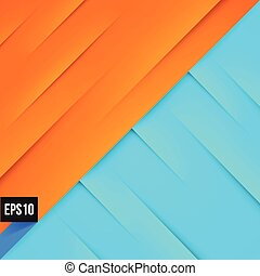 Abstract blue and orange background with lights and shadows