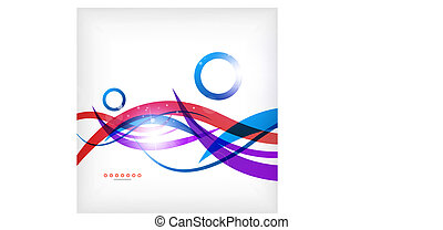 Abstract blue and red lines - business background