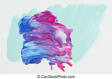 Abstract blue and red paint