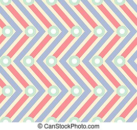 Abstract blue and red zigzag seamless pattern