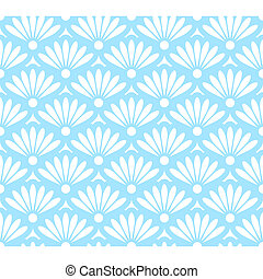 Abstract blue and white seamless pattern