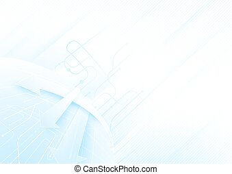 Abstract blue and white  technology concept  background