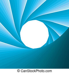 abstract blue aperture