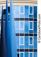 Abstract Blue Architecture