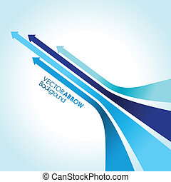 abstract blue arrow strips
