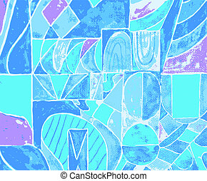 abstract blue art background