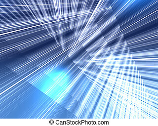 Abstract blue background - Abstract background of lines and...