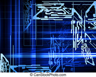 abstract blue background - blue hi-tech style