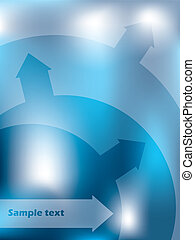 Abstract blue background design with arrows