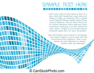 Abstract blue background - Abstract background made from...