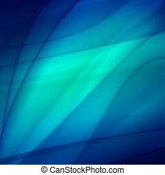 Abstract blue background, futuristic wavy web design