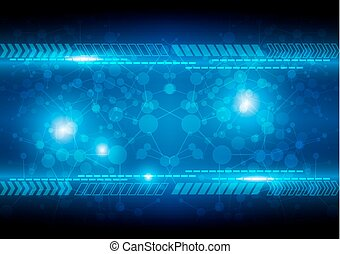 abstract blue background technology