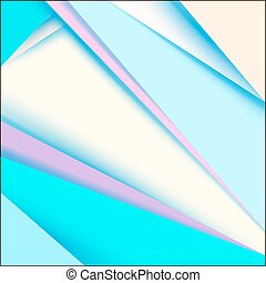 Abstract Blue Background. Vector Material Design Shapes.