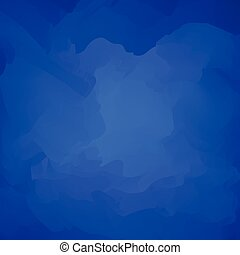 Abstract Blue Background Watercolor