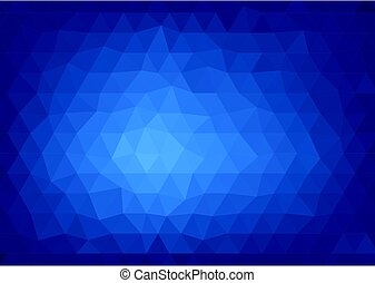 Abstract blue background with a polygonal pattern -