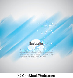 abstract blue background with blurred watercolor effect