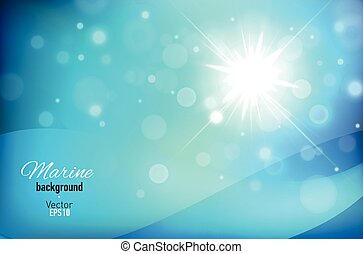 Abstract blue background with bokeh lights.