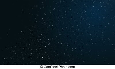 Abstract blue background with bright bokeh, circles, glitter. Loop animations. Plankton in the sea